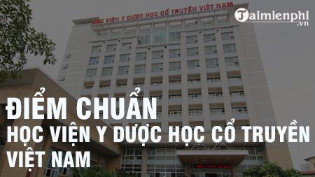 diem chuan hoc vien y duoc hoc co truyen viet nam