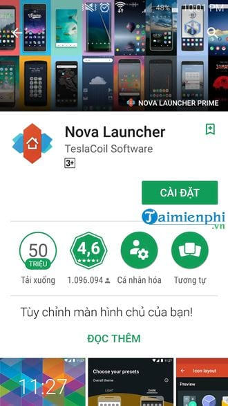 doi giao dien android bang nova launcher 2