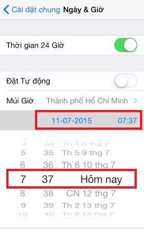 doi gio cho iphone