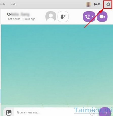 doi background chat viber tren may tinh