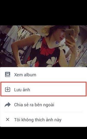Cách tải ảnh facebook trên điện thoại Android