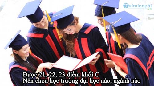 duoc 21 22 23 diem khoi c nen hoc truong nao nganh nao 2