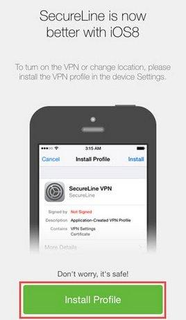 luot web an toan avast secureline tren iphone
