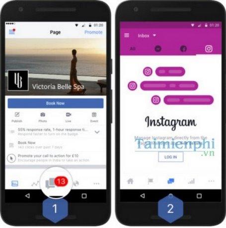 Facebook Pages, Messenger và Instagram sẽ có hòm thư chung