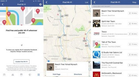 Facebook ra tính năng tìm điểm phát wifi miễn phí
