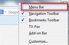 bat, tat thanh cong cu menu bar tren firefox