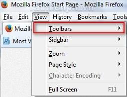 bat, tắt navigation Bar trong Firefox