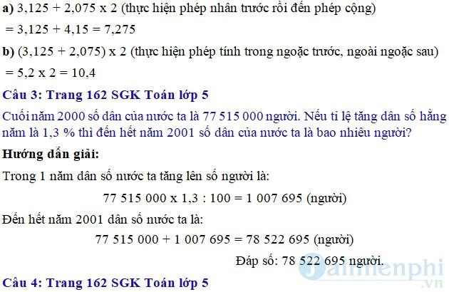 giai bai tap toan 5 trang 162 sgk luyen tap phep nhan