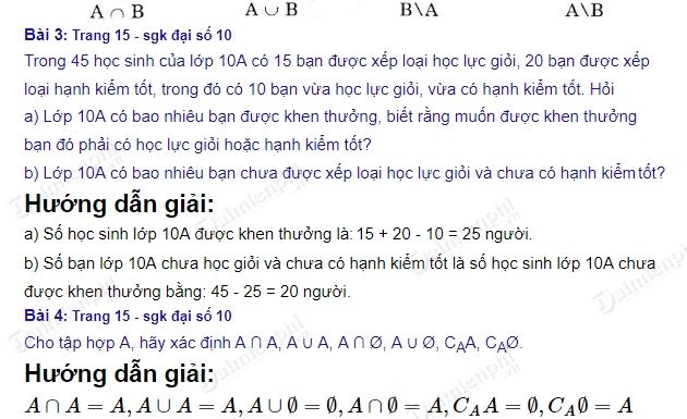 giai toan 10 trang 15 sgk tap 1 cac phep toan tap hop 2