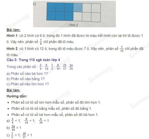 giai toan 4 trang 110 sgk phan so va phep chia so tu nhien 2