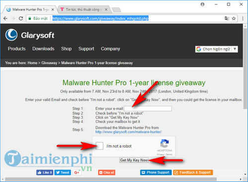 giveaway ban quyen mien phi malware hunter diet virus bao ve may tinh 2