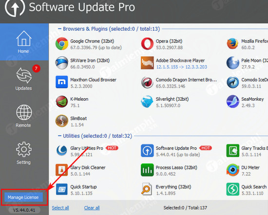 giveaway ban quyen mien phi software update pro 2