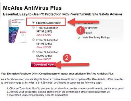 giveaway mcafe antivirus plus mien phi