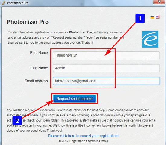 giveaway photomizer 2 will be free