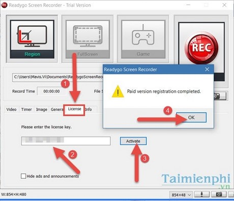 giveaway readygo screen recorder mien phi