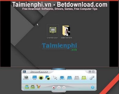 Bản quyền ScreenCamera, Điều chỉnh màn hình video webcam