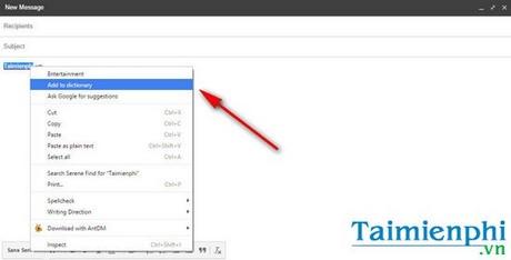 Gỡ bỏ, thêm từ vào Spelling Dictionary trên Google Chrome