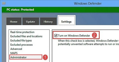 go bo windows defender phan mem diet virus tren win 8