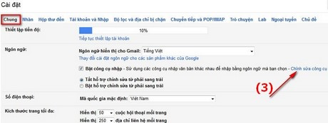 go tieng viet trong gmail
