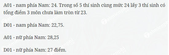 diem chuan dai hoc ky thuat hau can cong an nhan dan phia nam