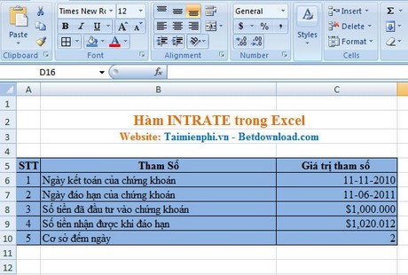 cach su dung ham intratw trong excel