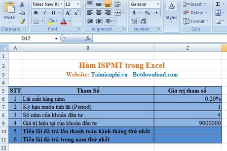 ham ISPMT