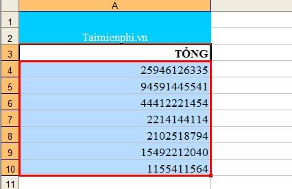 hien dau phay trong Excel
