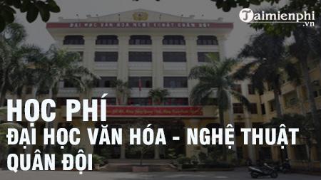hoc phi dai hoc van hoa nghe thuat quan doi 2016 2017