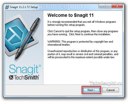 Cách cài Snagit chụp ảnh màn hình máy tính