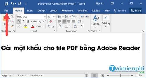 huong dan cai mat khau cho file pdf bang nhanh nhat 2