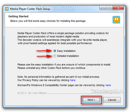 Instructions for Media Player Code Pack