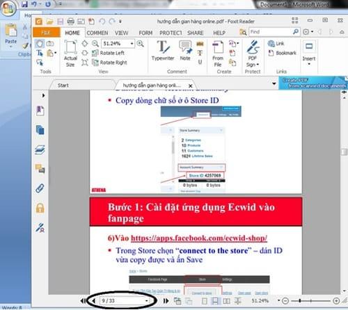 cat file pdf bang phan mem foxit reade