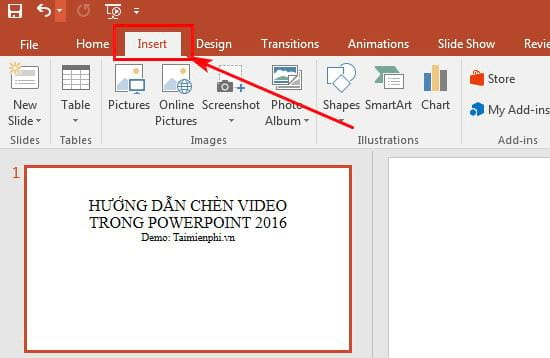 huong dan chen video vao powerpoint 2016 2