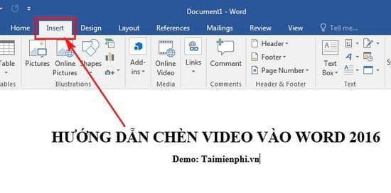 huong dan chen video vao word 2016 2