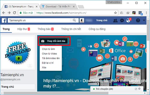 cach dung video lam anh bia fanpage facebook