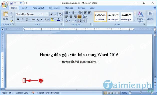 huong dan gop van ban trong word 2016 2