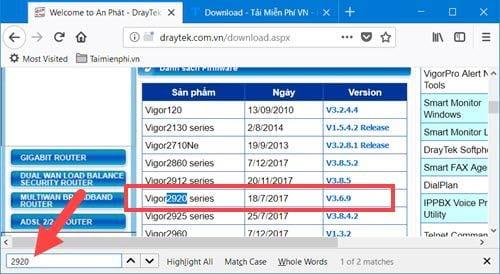 huong dan nang cap firmware cho router vigor 2