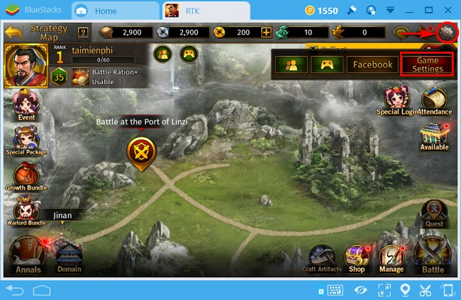 huong dan nhap code game the legend of caocao 2
