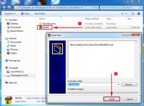 Hướng dẫn tải và cài đặt game Road Rash không bị lỗi Windows 7 1