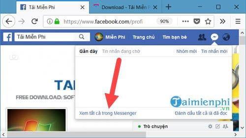 huong dan tra cuu tien dien bang facebook messenger 2