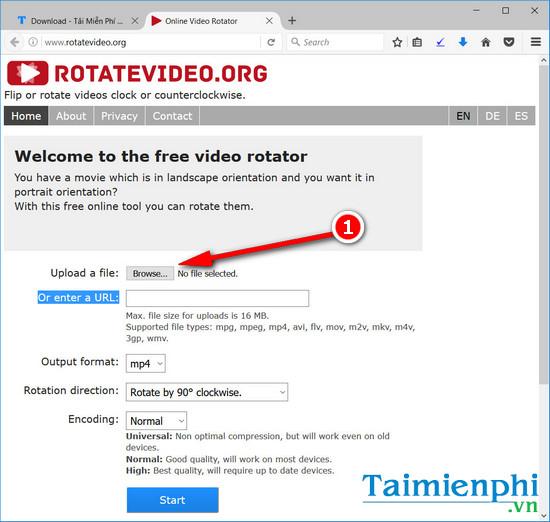xoay video bi nguoc online