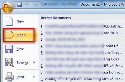 Khắc phục file word lỗi, không mở được file văn bản trên word 1