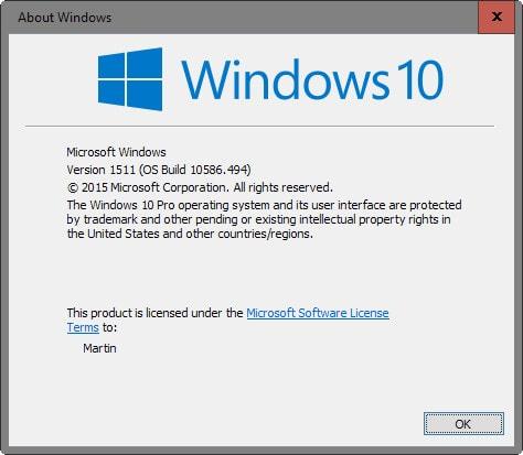 Kiểm tra phiên bản Windows 10 đã cài đặt trên máy tính 2