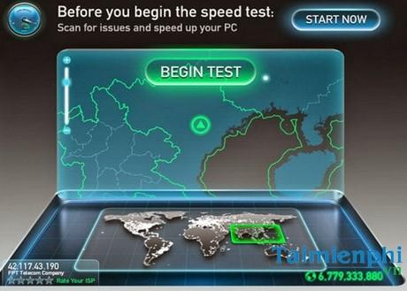 Kiểm tra tốc độ mạng FPT, test đường truyền mạng FPT 1