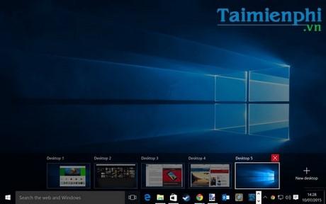 tao desktop ao tren windows 10
