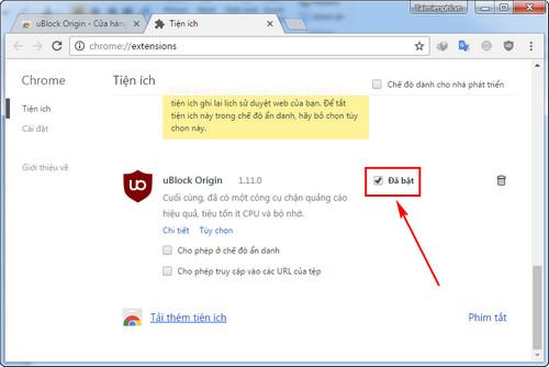 Loại bỏ những thành phần không cần thiết trên trang web với uBlock Ori