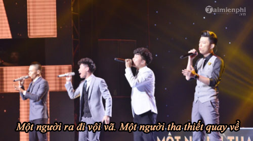 loi bai hat mot nguoi tha thiet quay ve sing my song 2