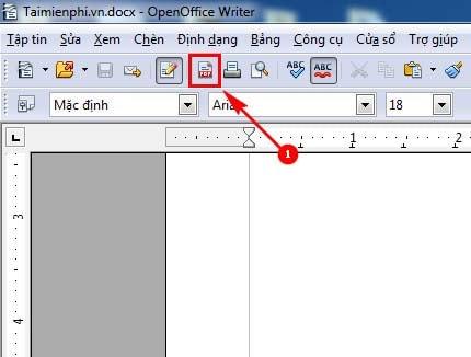 luu file pdf trong openoffice
