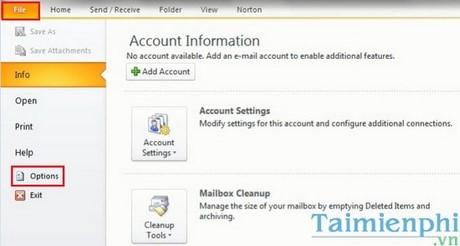 Sao lưu dữ liệu Outlook, backup Mail trong Outlook 2010, 2016, 2013, 2007