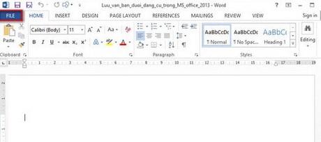 Cach luu van ban duoi đinh dang cu trong MS Office 2013